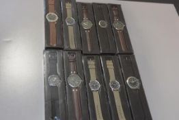 A collection of ten various quartz gentleman's sports wristwatches of various styles (new and
