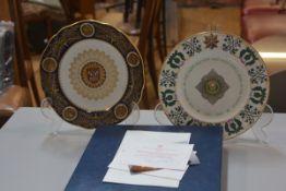 A Spode York Minster Restoration plate complete with original box, certificate etc., no. 690/1000,