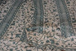 A striking pair of 1900/1920s hand stitched curtains by Whytock & Reid, Edinburgh, the Arts and