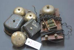 A vintage Goltone bakelite door bell together with two other bells of similar date. (3)