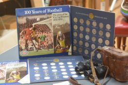 Two incomplete sets of replica FA Cup medals, commemorating the FA Cup Centenary 1872-1972; together