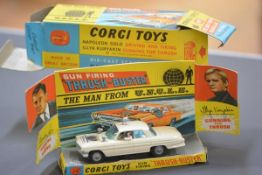 Corgi Toys 497, The Man from Uncle, Gun Firing Thrush-Buster, in white, with inner card display