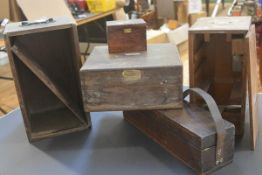 A group of four instrument boxes