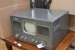 An American National, NC, metal-cased table top television receiver, c. 1950. 30cm by 50cm by 40cm