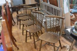 Forstrup, a set of five 1970's Danish teak dining chairs (5)