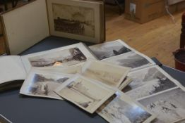 A group of three 19th century photograph albums including a rare example with images of a European