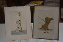 B McKay, Reserved, watercolour, signed and another, Tied Up (23cm x 15cm) (2)