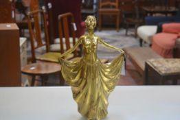 A cast brass Female Figure (h.48cm)