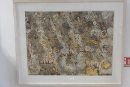 Martin, Remnants, mixed media, signed and inscribed verso, dated 2014 (54cm x 73cm)