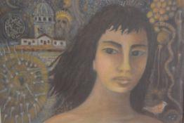Eastern School, Zuhtu, oil on canvas, signed (49cm x 63cm)