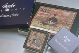 A Border Fine Arts set of Collectors' Choice coasters, the James Herriot series together with