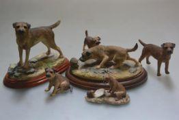 Border Fine Arts, model of a freestanding Border Terrier and Border Fine Arts, Border Terrier figure