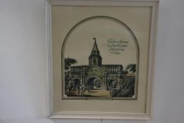 Russian School, Yu. Perevezentsev, First Gate, State Palace, Ismailovsky, signed in pencil,