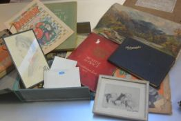 A folder containing miscellaneous pamphlets including McVitie & Price Biscuit and Cake manufacturers