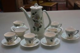 A Figgjo Flint of Norway 1950s/60s china coffee service of fifteen pieces complete with coffee