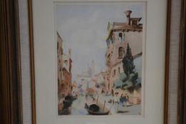 After Natteah, Venetian Scene, signed with initials, D.B.D. 1931, watercolour (22cm x 17cm)