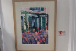 Carolyn White, Monet's House Giverny, watercolour, signed, paper label verso, dated 1991 (74cm x