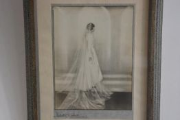 Photography: Dorothy Wilding, The Bride, signed, in 1930s style stepped frame (31cm x22cm)