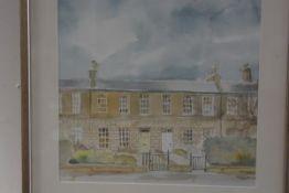 E.A. Walker, 20 Comely Bank, Edinburgh, watercolour, 32cm by 33cm