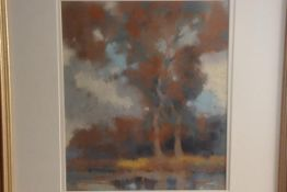Henry Taylor Wyse (1870-1951), Trees and Sky, Study 1, pastel and gouache, paper label verso c.
