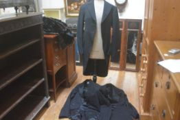 A Burton's gentleman's wool morning suit fitted one button, with another, and a dinner jacket (a