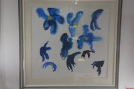 Alan Turner, Meconopsis Heads, watercolour, signed and dated 1980, inscribed verso. 60cm by 65cm