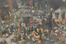 After Pieter Bruegel the Younger (1564-1638), Flemish Fair, lithographic print