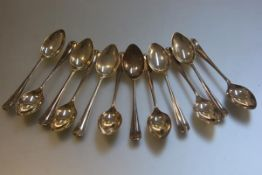 A set of twelve London silver Old English pattern coffee spoons (104.2g)