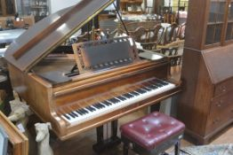 A John Broadwood & Son, London rosewood cased Edwardian baby grand piano with overstrung and