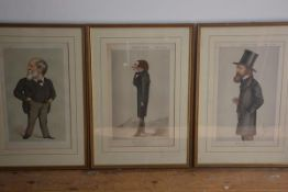 A set of three 19th century Vanity Fair prints, Modern Poetry, Men of the Day no. 40 and Men of