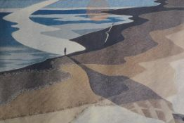 Leila Thomson, Echos, print of a tapestry, signed. 42cm by 58cm