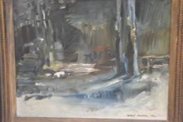 Darryl Mackie, Winter Scene, oil on canvas board, signed and dated '76 (29cm x 36cm)