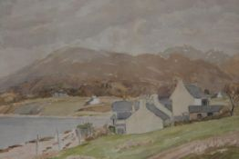 William Jardine Dobie, Port Appin, Argyll, watercolour, signed with initials and dated 1948,