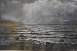 Richard Alred, Westerly Gales Loch Rannoch, pastel, signed and inscribed verso (30cm x 41cm)