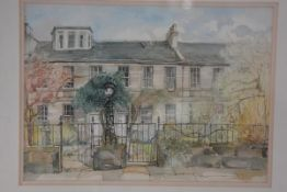 Caroline Buchanan, Spring, Ann St II, watercolour, ex-Flying Colours Gallery label verso, signed and