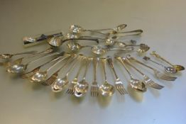 A collection of miscellaneous Epns flatware including six Old English pattern dessert spoons and