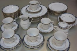 A Noritake Impressions thirty nine piece tea and dinner service including six teacups, saucers, side