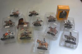 A box containing approximately sixty Dell Prado figures on horseback including Dutch figures,