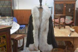 A Dominion Fur Company, Churchill, Edinburgh, lady's mink jacket with fox fur trim and satin