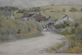 W Smallwood Winder, Village Scene, watercolour, signed and dated 1901 (22cm x 29cm)