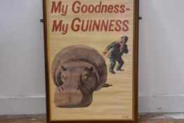 My Goodness My Guinness, framed poster (58cm x 38cm)