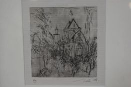 Archie Soutar Watt, Sweetheart Abbey, monoprint, artists proof, signed (15cm x 14cm)
