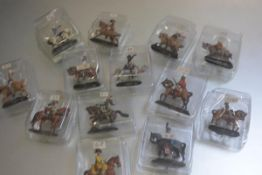 A box containing seventeen Dell Prado diecast painted enamelled figures including Hassards,