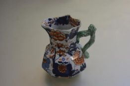 A late 19thc Masons Ironstone octagonal jug with Imari style decoration, stamped verso (h.13cm)