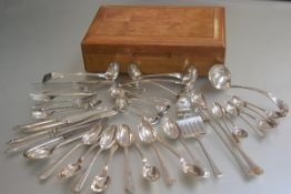 A collection of miscellaneous Epns and silver flatware including a set of ten French silver plated