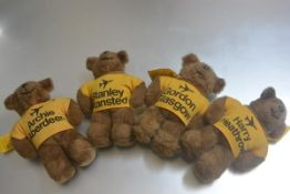 Four various limited edition bears: Archie the Aberdeen British Airports bear, Gordon the Glasgow