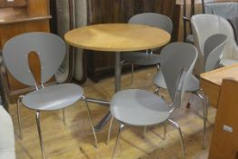 A set of four Globus Stua chairs model 200 by Jesus Gasca, Spain, with grey polymer moulded seats on