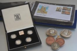 A set of Royal Mint 1984-1987 silver proof Piedfort Collection, in original case, a collection of
