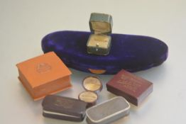 A collection of various Edwardian and later ring and jewellery boxes including two ring boxes