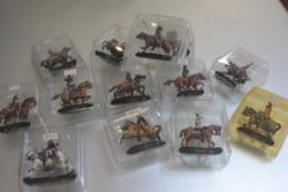 A box containing a large collection of Dell Prado diecast metal enamelled figures including